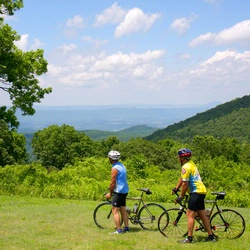 Mountain Bike Riding by Hotel Roanoke