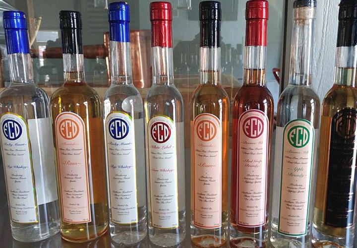 Franklin Country Distillery bottles