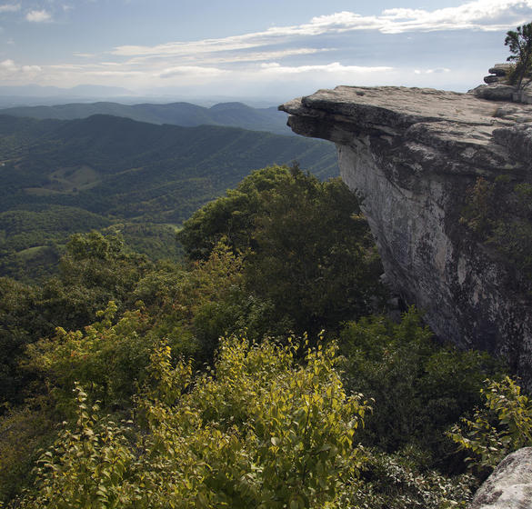 The McAfee Knob on the Appalachian Trail